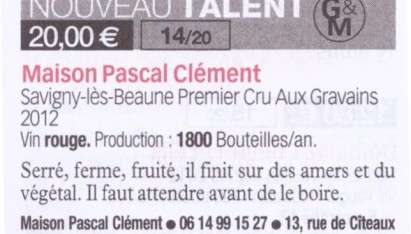 Savigny-Les-Beaune 1er Cru Aux Gravains 2012